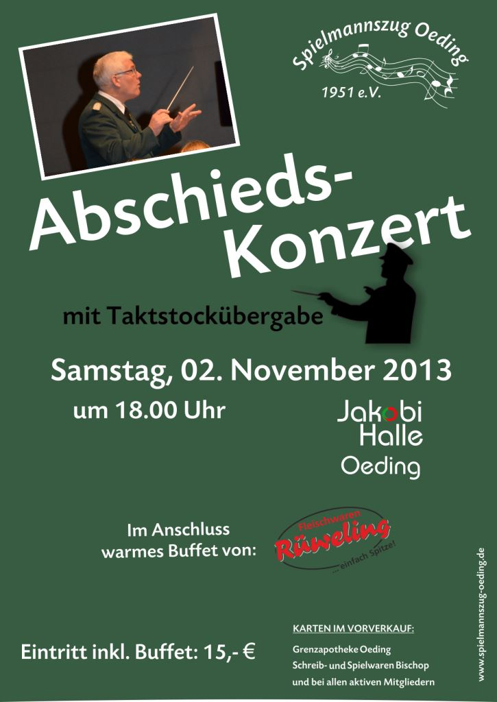Abschiedskonzert 2013 | Plakat und Flyer by www.web-de-sign.de